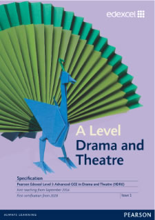 Link to A level Drama and Theatre specification page