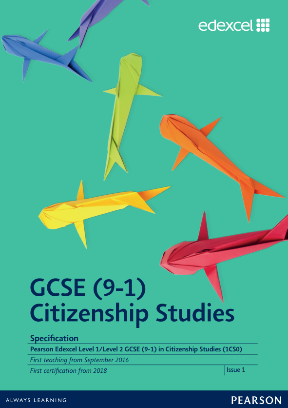 Link to Edexcel GCSE Citizenship Studies (2016) specification page