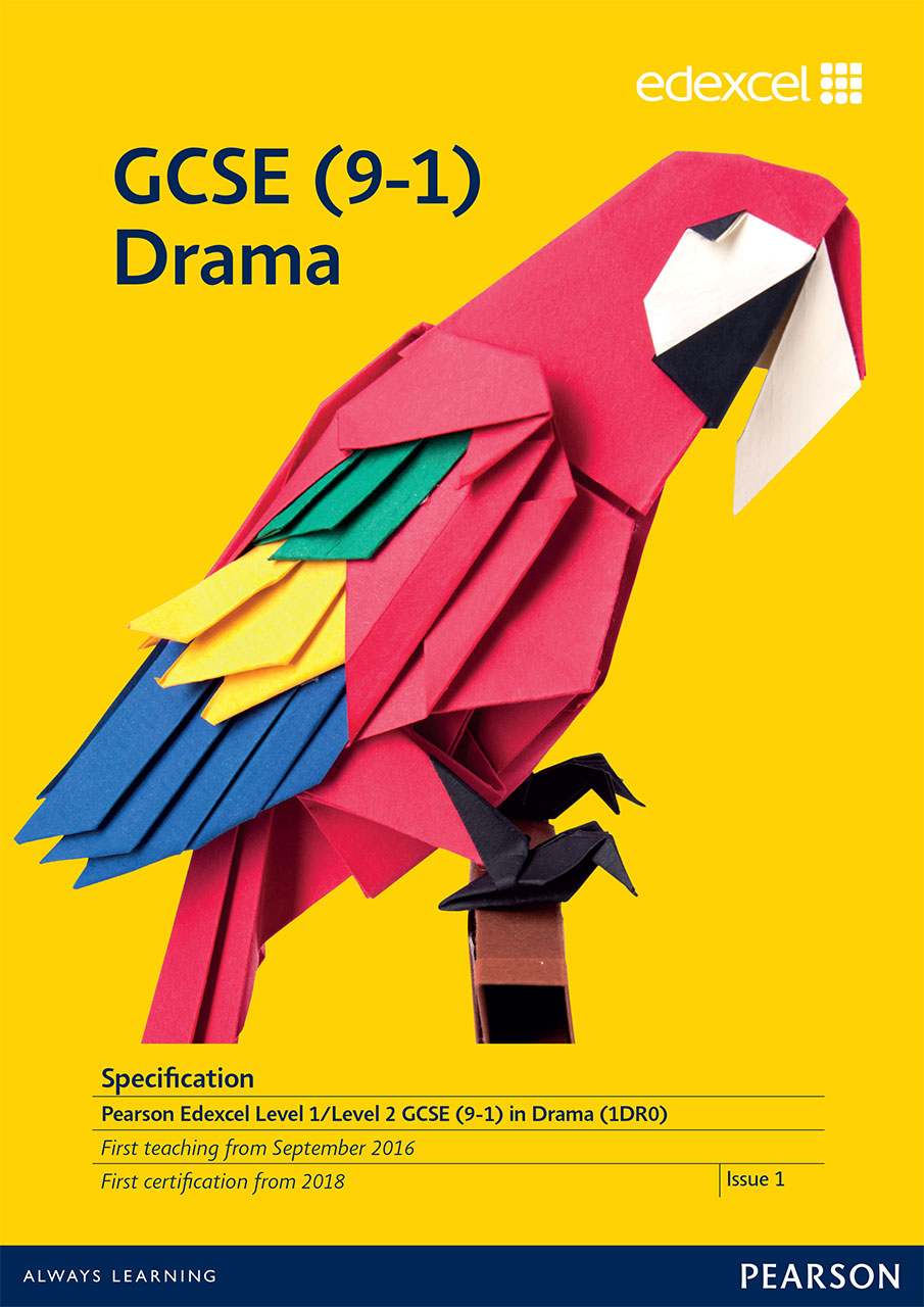 Link to Edexcel GCSE Drama (2016) specification page