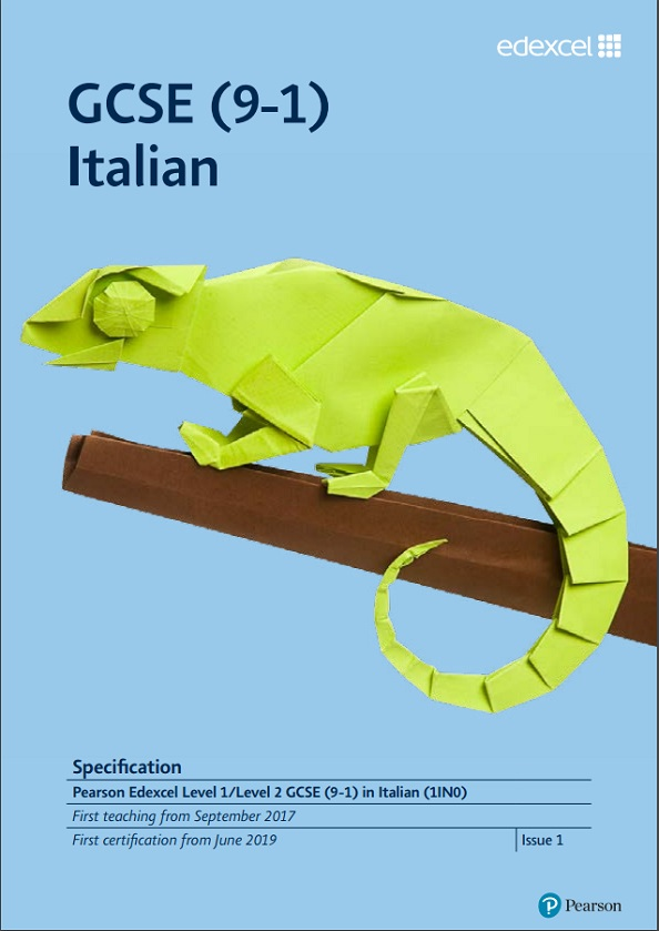 Link to Edexcel GCSE Italian (9-1) from 2017 specification page