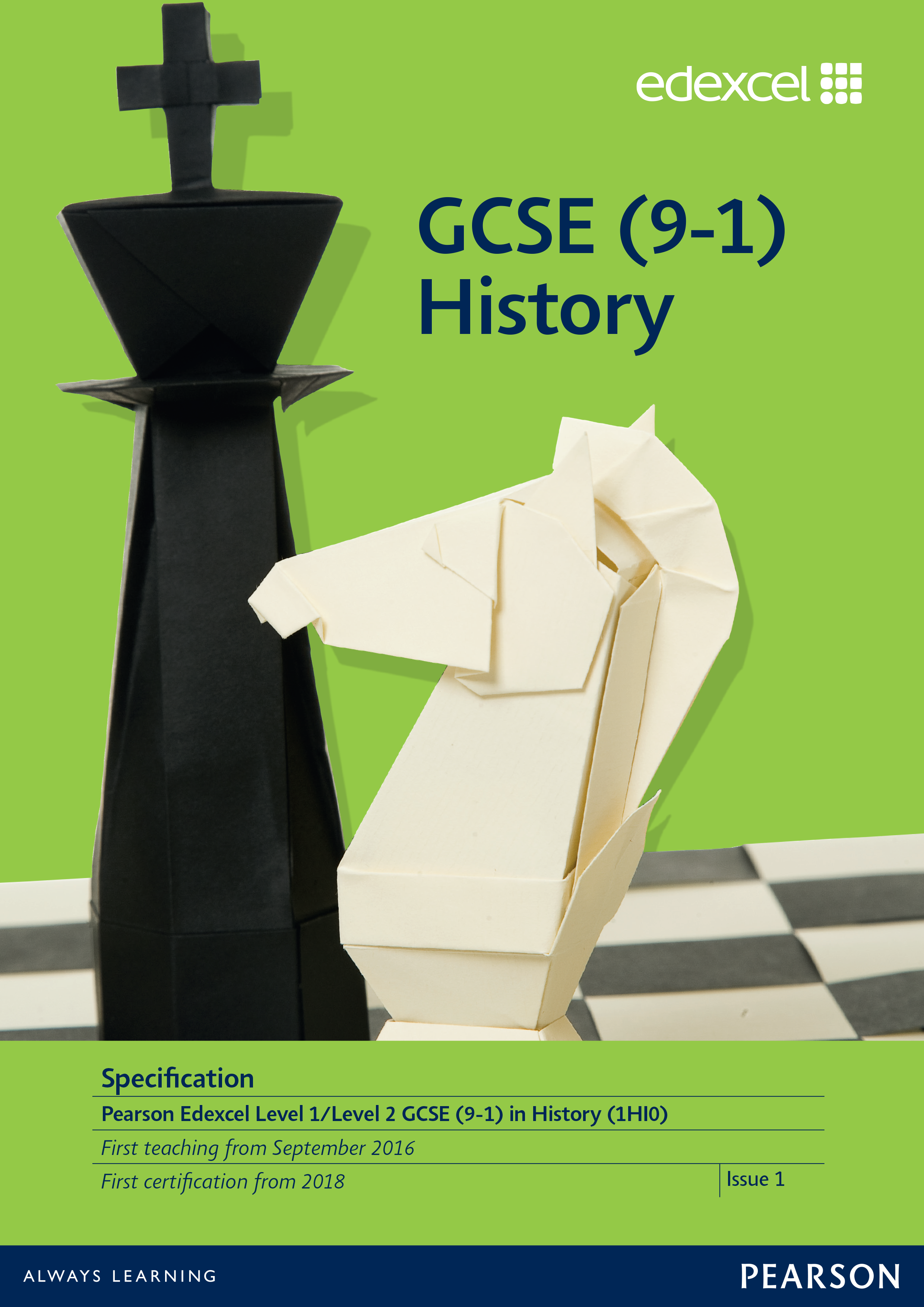 Link to Edexcel GCSE History (2016) specification page
