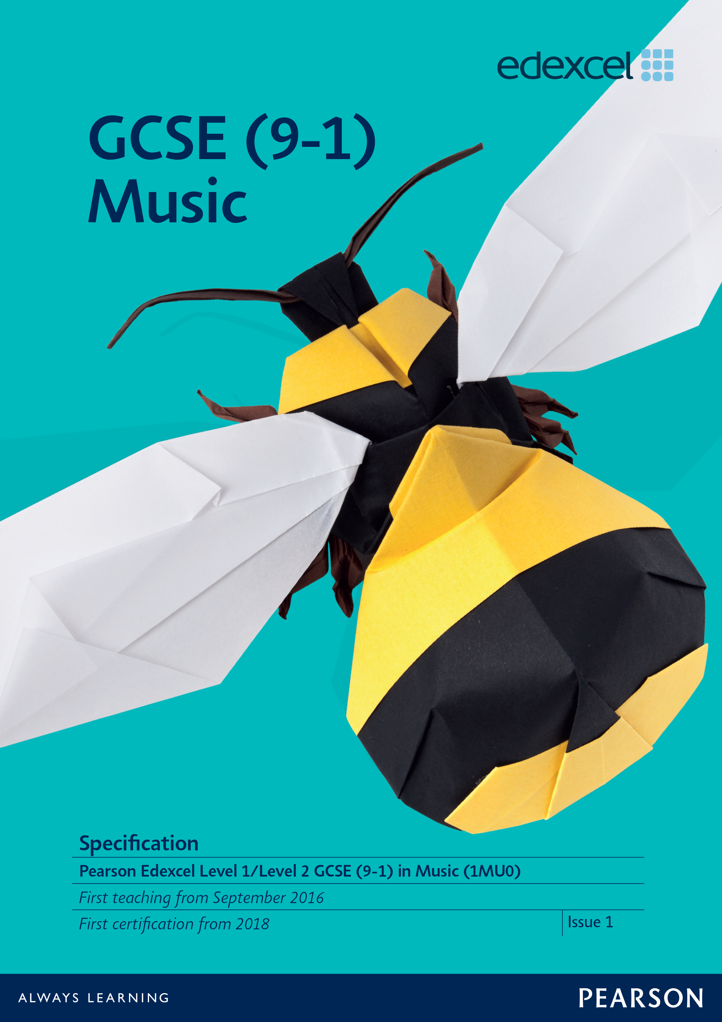 Link to Edexcel GCSE Music (2016) specification page