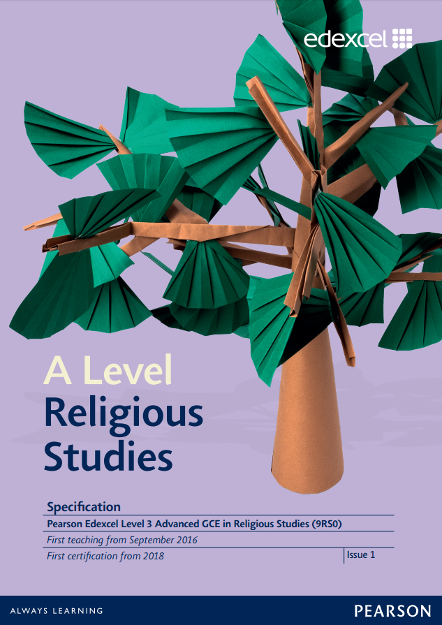 Link to A Level Religious Studies specification page