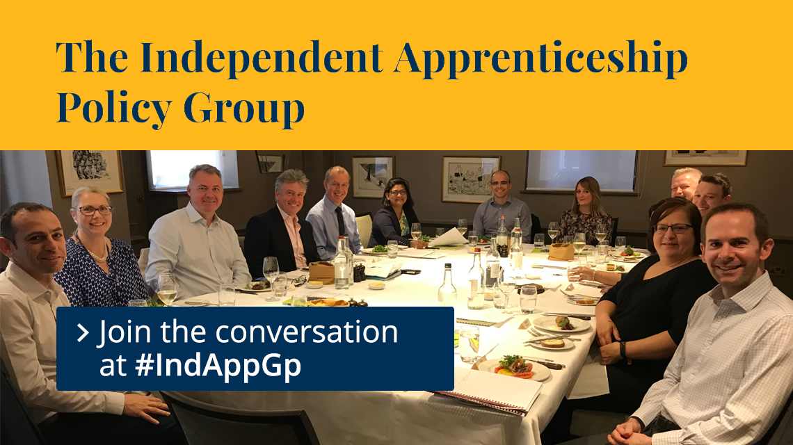 The Independent Apprenticeship Policy Group, Join the conversation at #IndAppGp