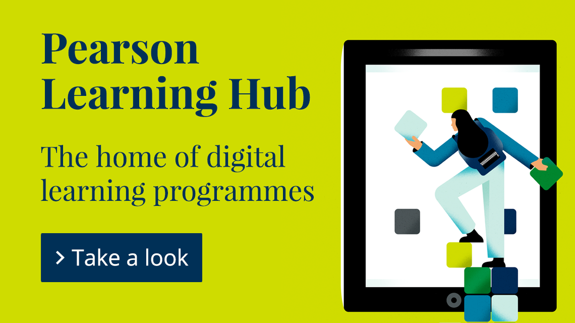 Pearson Learning Hub, the home of digital learning programmes. Take a look.