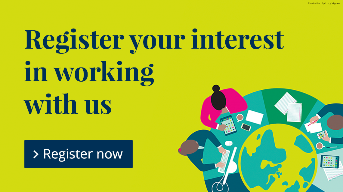 Register your interest in working with us