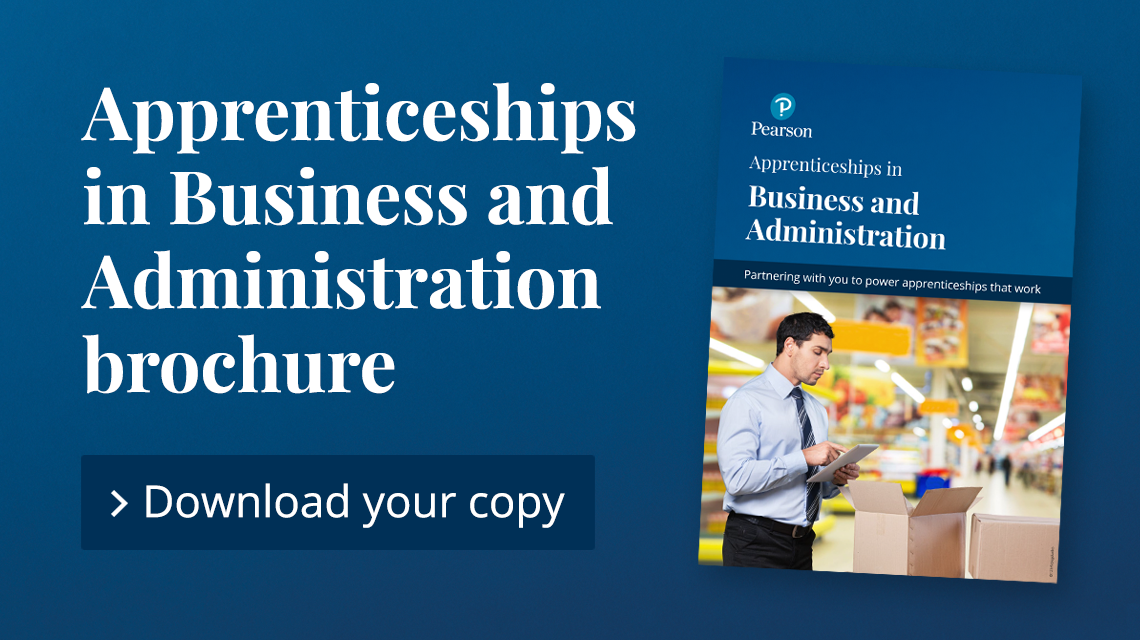 Business and Administration Apprenticeship brochure
