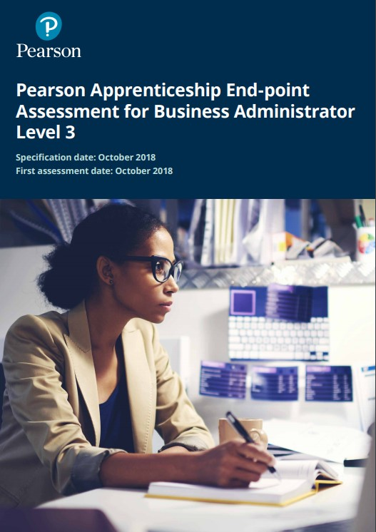 Pearson Apprenticeship End-point Assessment for Business Administrator Level 3 pdf document