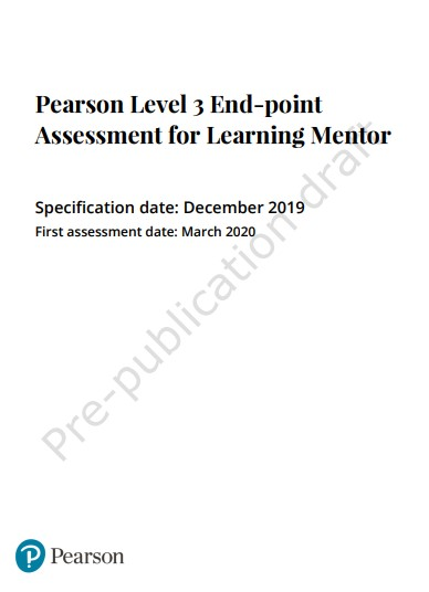 Learning Mentor EPA Spec