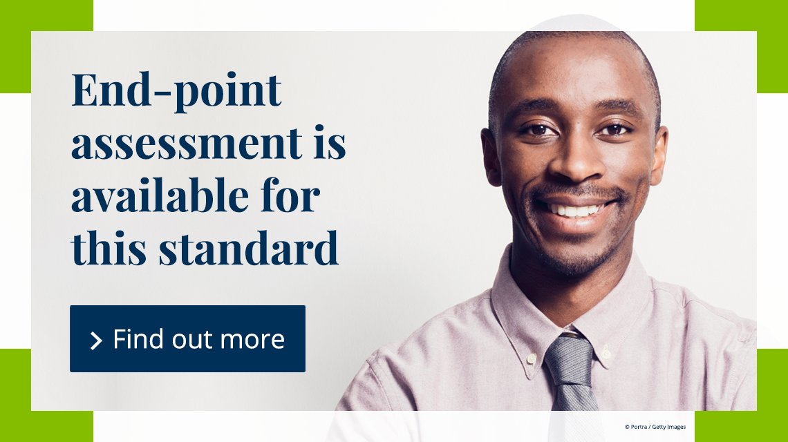End-point assessment is available for this standard