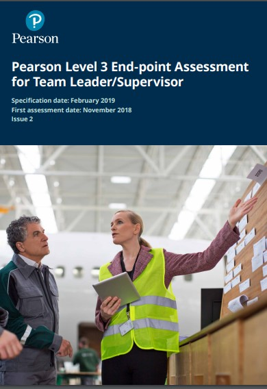 Pearson Level 3 End-point Assessment for Team Leader/Supervisor