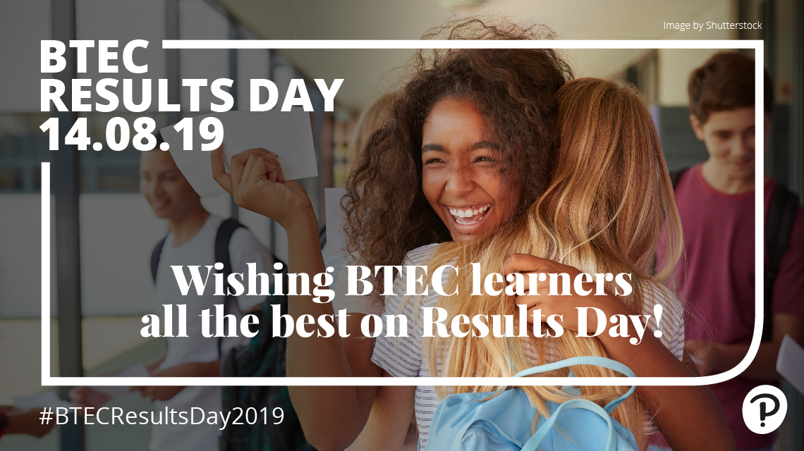 Wishing BTEC learners all the best.