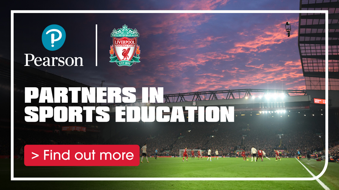 Pearson and Liverpool FC partnership. Find out more.