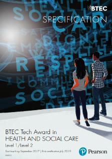 Health and Social Care   BTEC Tech Awards   Pearson