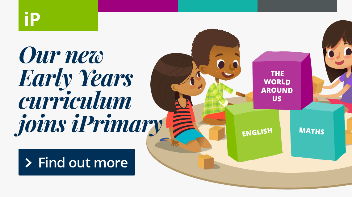 Our new Early Years curriculum joins iPrimary. Find out more.