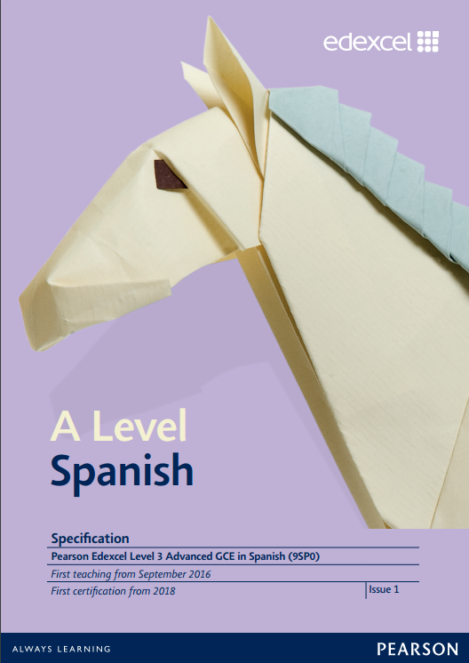 Link to A level Spanish specification page