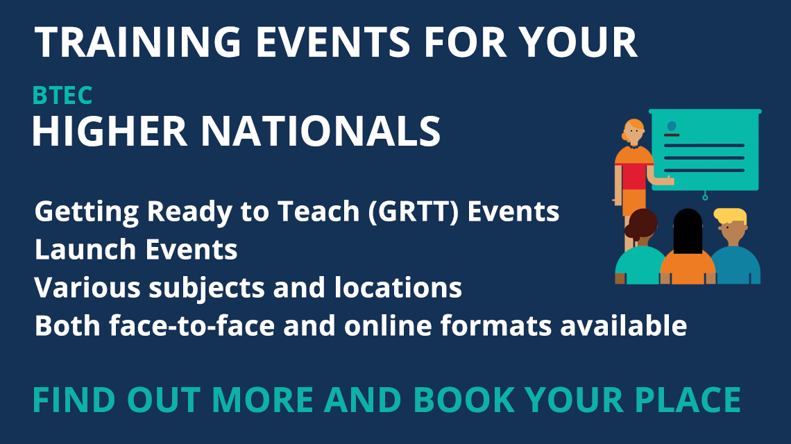 BTEC Higher Nationals Training. Book your place today