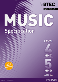 BTEC Higher National Diplomas in Music specification