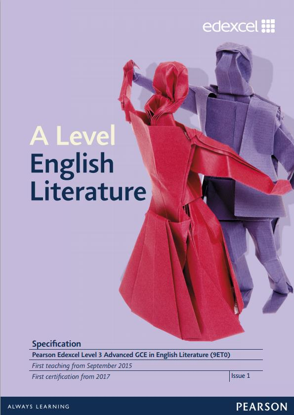 Link to Edexcel A level English Literature specification page