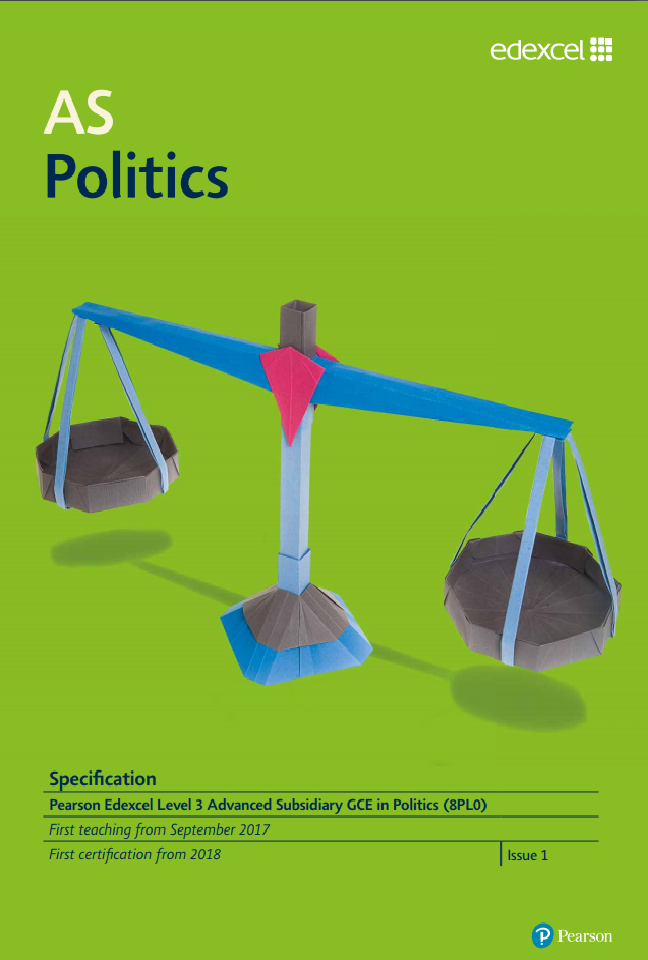 AS Politics specification