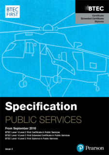 Pearson BTEC First in Public Services specification
