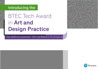 First-Look Guide BTEC Tech Award in Art and Design