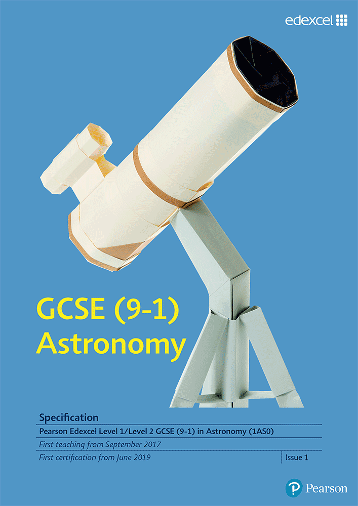 Link to Edexcel GCSE Astronomy (2017) specification page