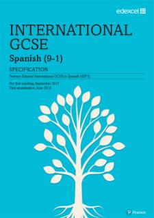 Edexcel International GCSE Spanish (2017)   Pearson qualifications