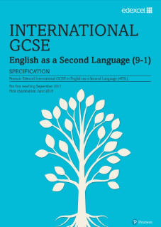 Edexcel International GCSE English (as a 2nd language) 2017 specification