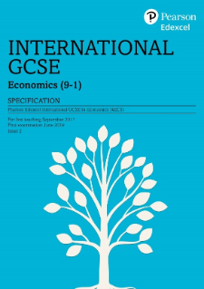 Edexcel International GCSE Economics 2017 specification
