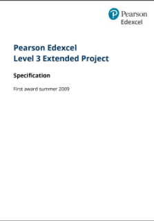 Level 3 Extended Project specification