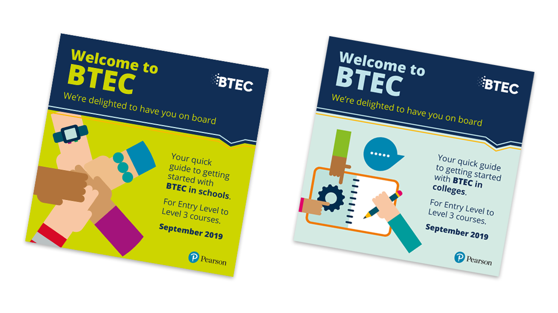 BTEC guide covers