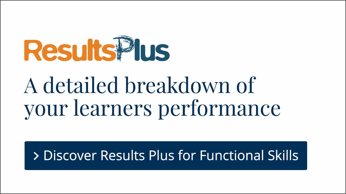 Link to ResultsPlus for Functional Skills