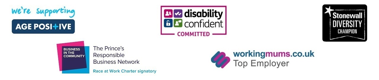 Working mums, Supporting Age Positive, Disability Confident Committed and Stonewall Diversity Champion