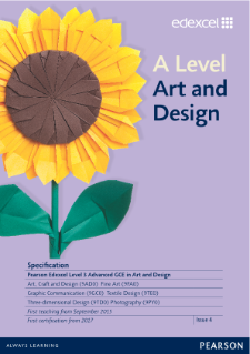 A level Art and Design 2015 specification
