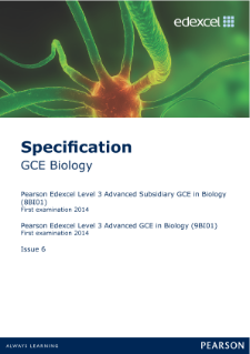 Edexcel A level Biology specification