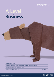 A level Business 2015 specification