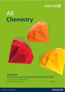 AS Chemistry 2015 specification