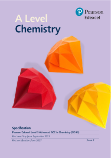 A level Chemistry 2015 specification
