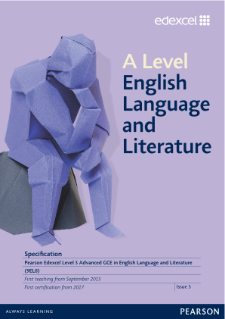 A level English Language and Literature 2015 specification