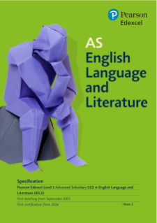 AS English Language and Literature 2015 specification