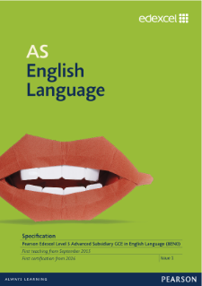 AS English Language 2015 specification