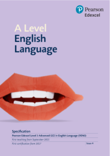 Edexcel AS and A level English Language 2015 | Pearson qualifications
