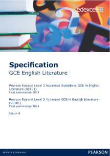 Edexcel A level English Literature specification