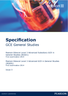 Edexcel A level General Studies specification