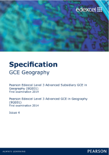 Edexcel A level Geography specification