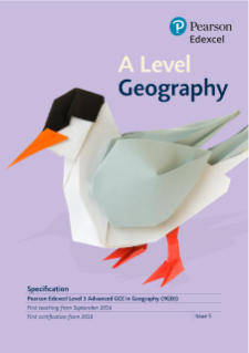 Pearson Edexcel Geography A level Specification