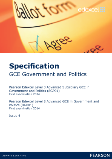 Edexcel A level Government and Politics specification