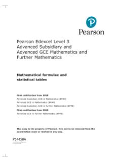 Pearson Edexcel AS and A level Mathematics (2017) | Pearson