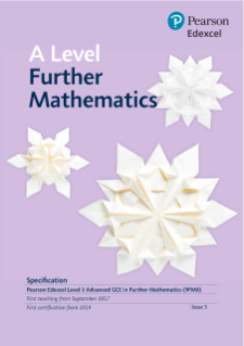 A level further maths Specification